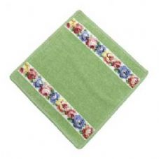 Feiler Aida Wash Cloth - White/Pistachio 179
